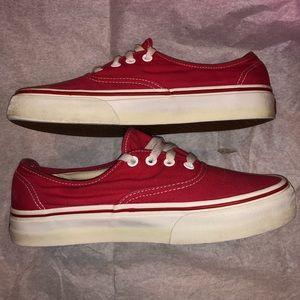 Vans low top Red Mens size 6